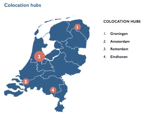 Datacenter hotspots in Nederland