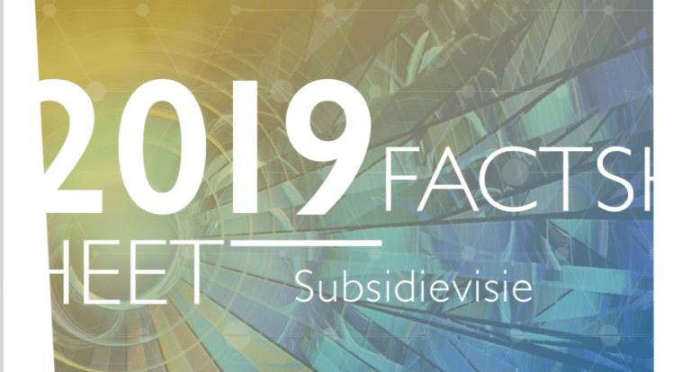 Nieuwste Subsidievisie 2019 in samenwerking met Hezelburcht