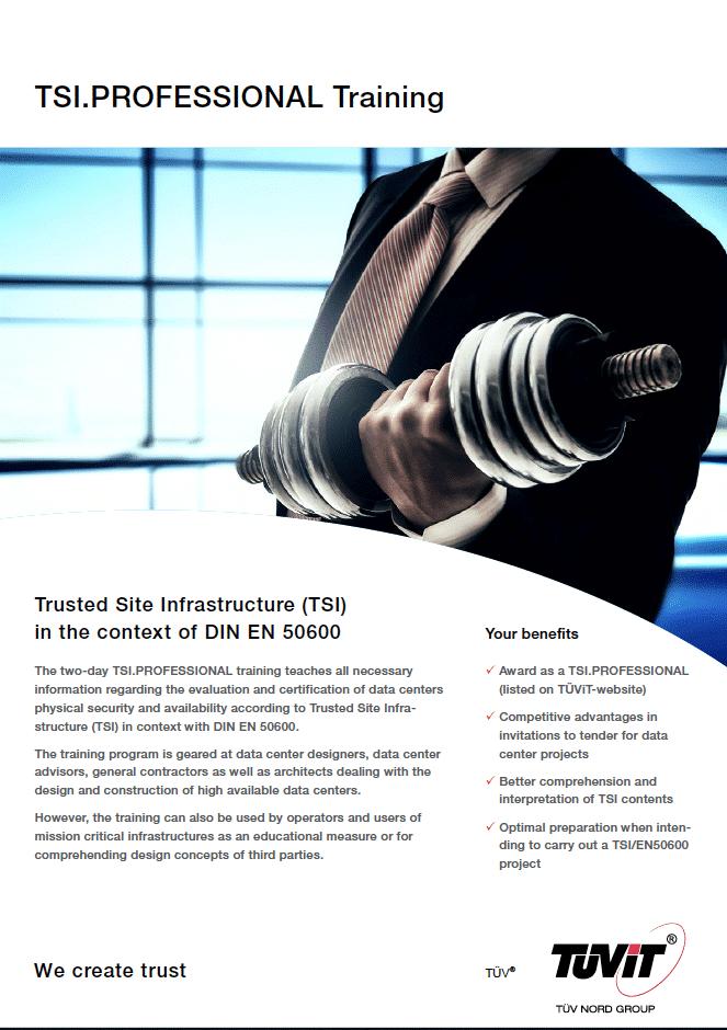TSI.PROFESSIONAL Training by TÜViT in Amsterdam