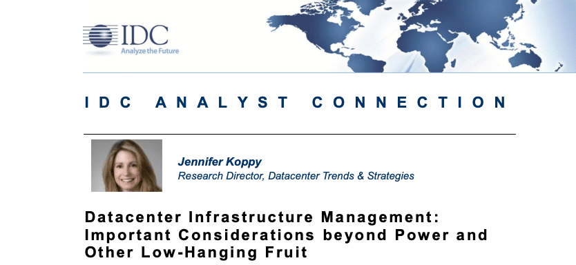 Datacenter Infrastructure Management: Important Considerations beyond Power and Other Low-Hanging Fruit