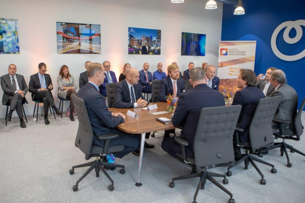 Dutch Data Center Association welcomes King Willem-Alexander during a work visit in Amsterdam data center
