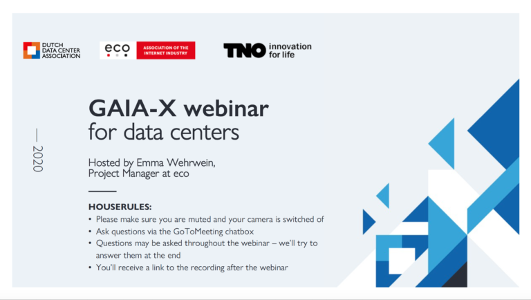 Terugkijken: 'GAIA-X for datacenters' webinar