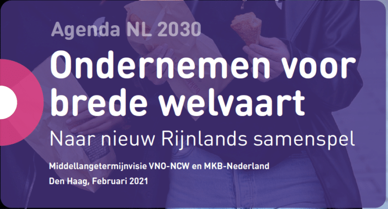 VNO-NCW publiceert Agenda 2030: 'Ondernemen voor brede welvaart'